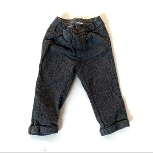Old Navy 12-18M EUC Black and Grey Textured Pants